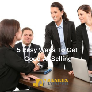 Like learning any new skill, selling is a little uncomfortable at first.