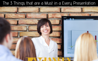 Presenting Tip #1 – The 3 Things that are a Must in a Every Presentation